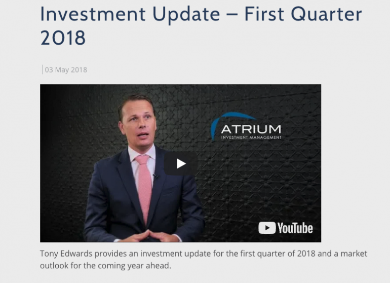 Investment Update - First Quarter 2018