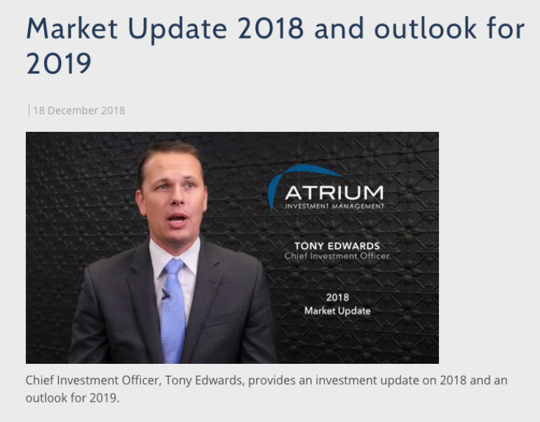 2018 Market Update and Outlook for 2019
